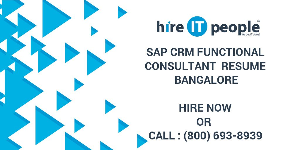 sap crm functional consultant resume bangalore hire it people we get done fresher graphic Resume Sap Crm Functional Resume