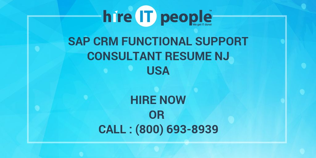 sap crm functional support consultant resume nj hire it people we get done insight mis Resume Sap Crm Functional Resume