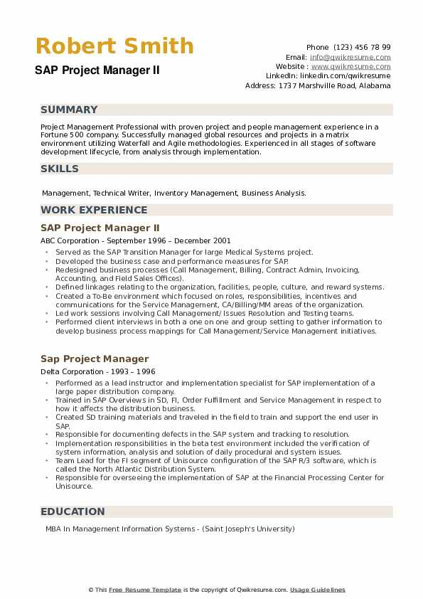 sap project manager resume samples qwikresume education pdf clothing buyer legal Resume Education Project Manager Resume