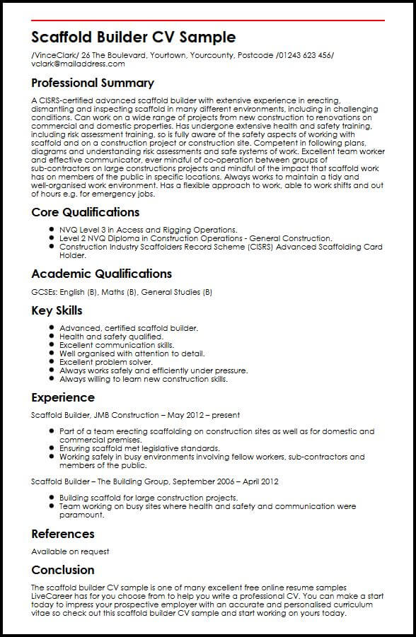 scaffold builder cv example myperfectcv great skills and abilities for resume sample tips Resume Great Skills And Abilities For Resume