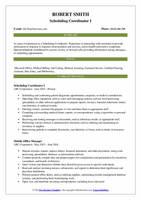 scheduling coordinator resume samples qwikresume for pdf best template high school Resume Resume For Scheduling Coordinator