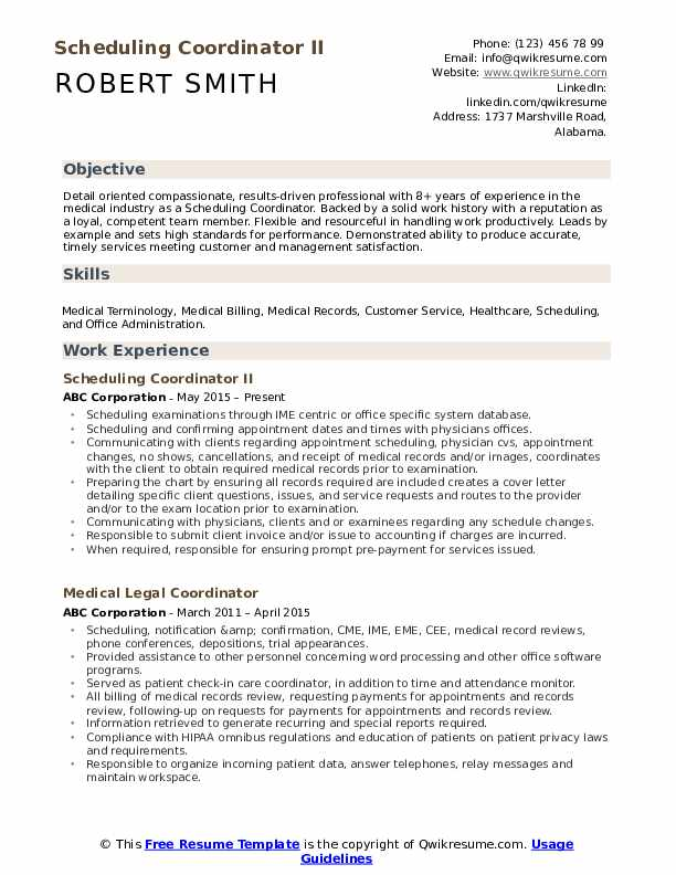 scheduling coordinator resume samples qwikresume for pdf free executive templates Resume Resume For Scheduling Coordinator