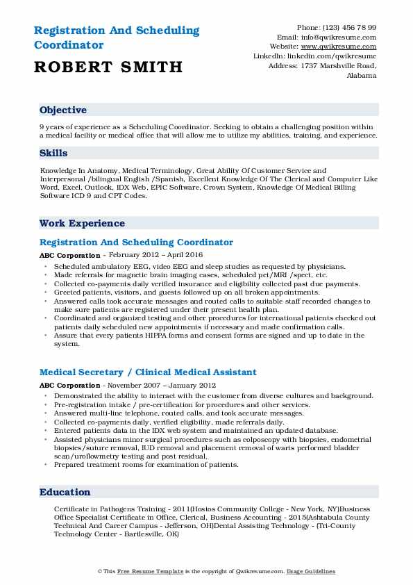 scheduling coordinator resume samples qwikresume for pdf selenium cucumber sample free Resume Resume For Scheduling Coordinator