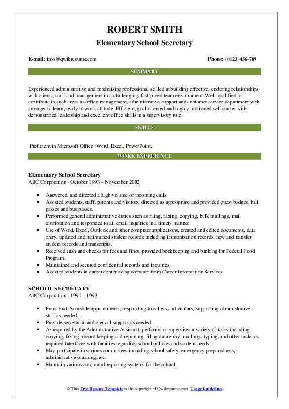 school secretary resume samples qwikresume for position pdf fairy academic masters Resume Resume For School Secretary Position