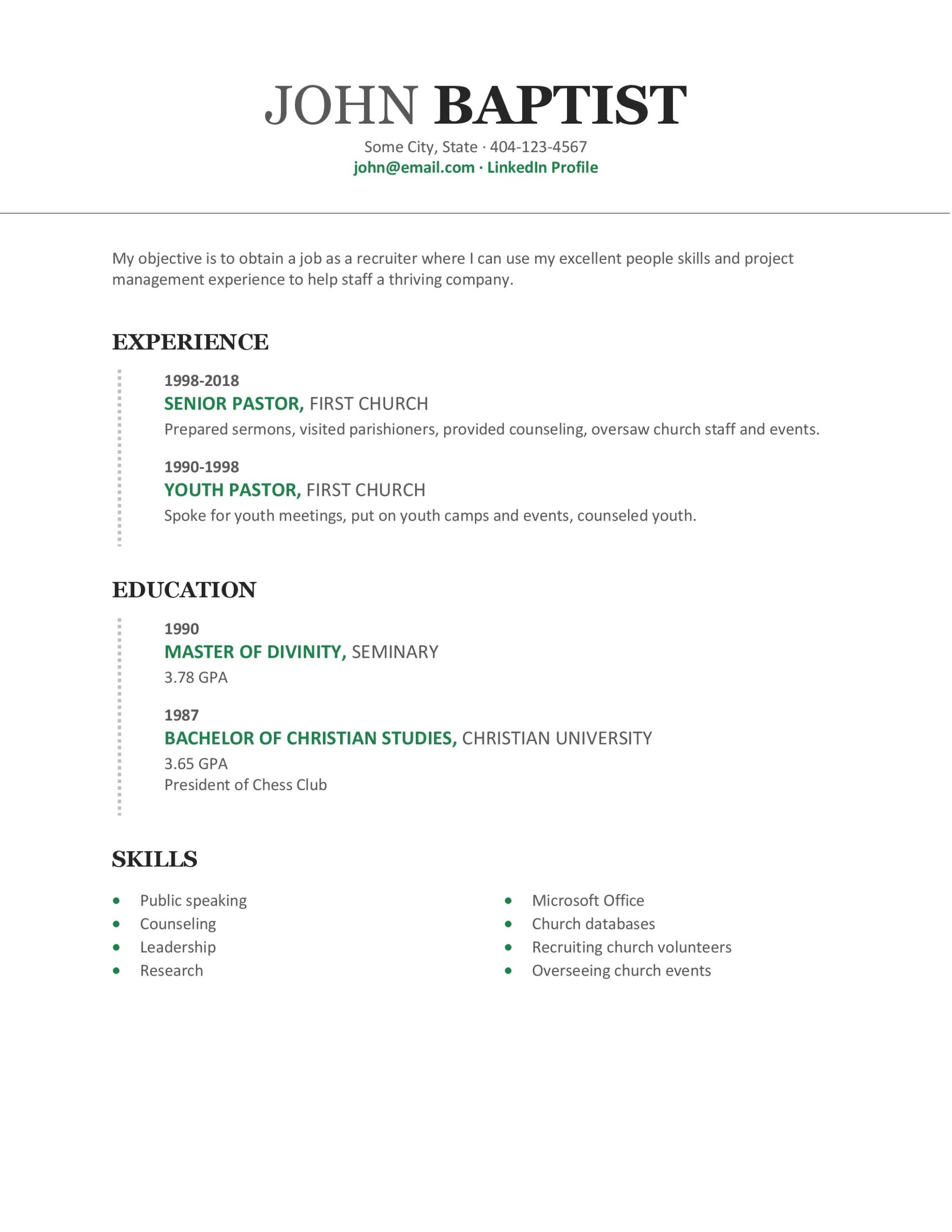secular jobs for pastors writing relevant resume the pastor wallet ministry objective Resume Ministry Objective Resume Examples