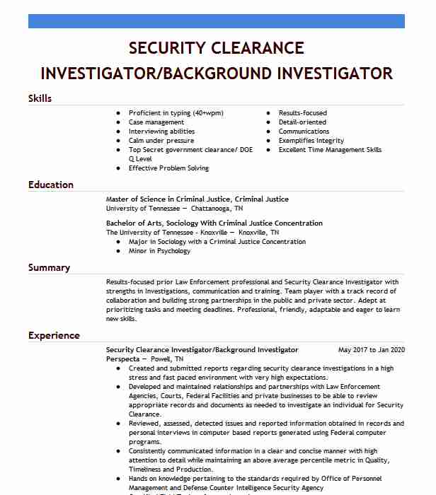 security clearance resume example ci current fayetteville north carolina on examples Resume Security Clearance On A Resume Examples