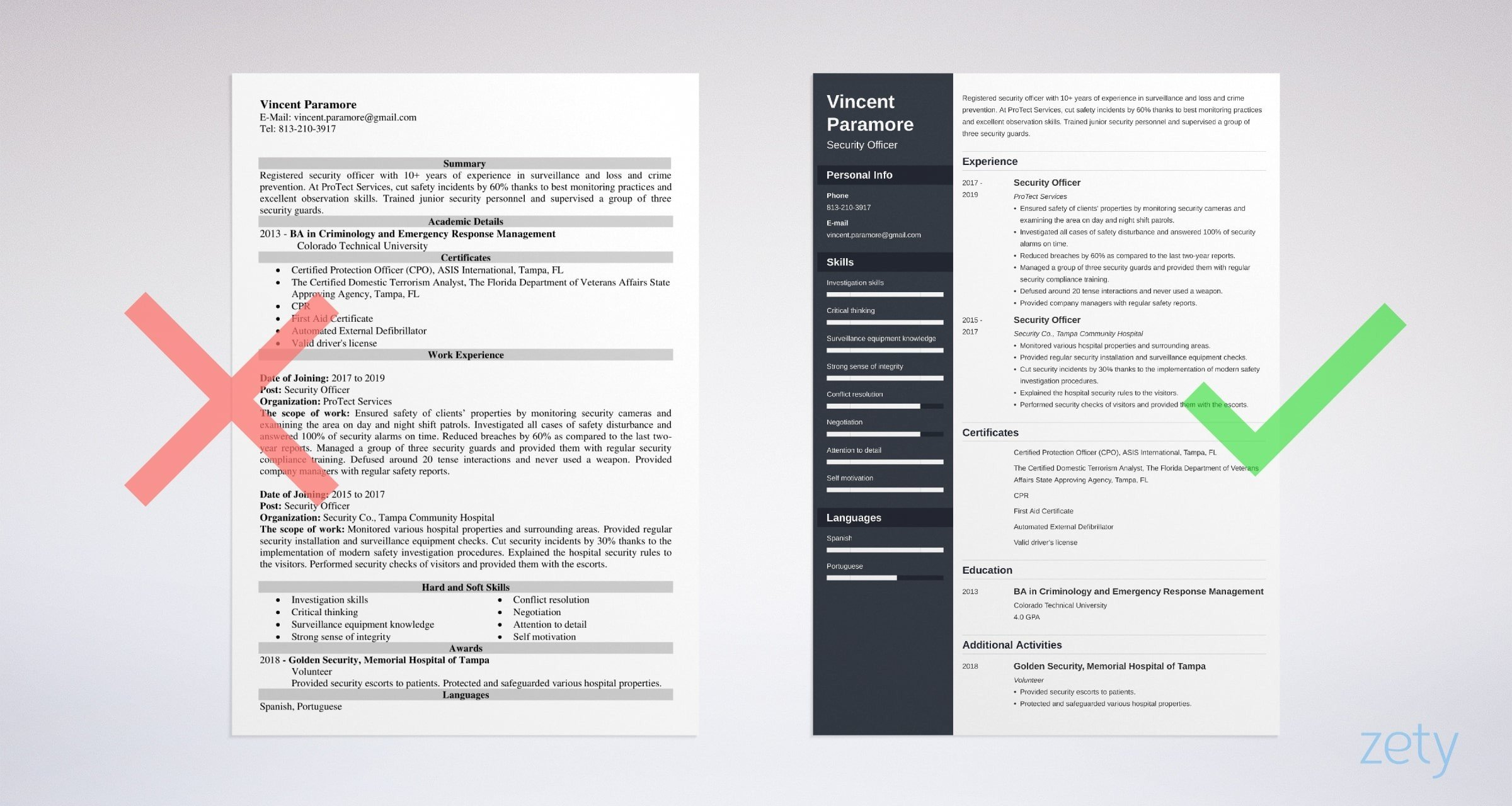 security officer resume sample guide example of for criminology most professional format Resume Example Of Resume For Criminology