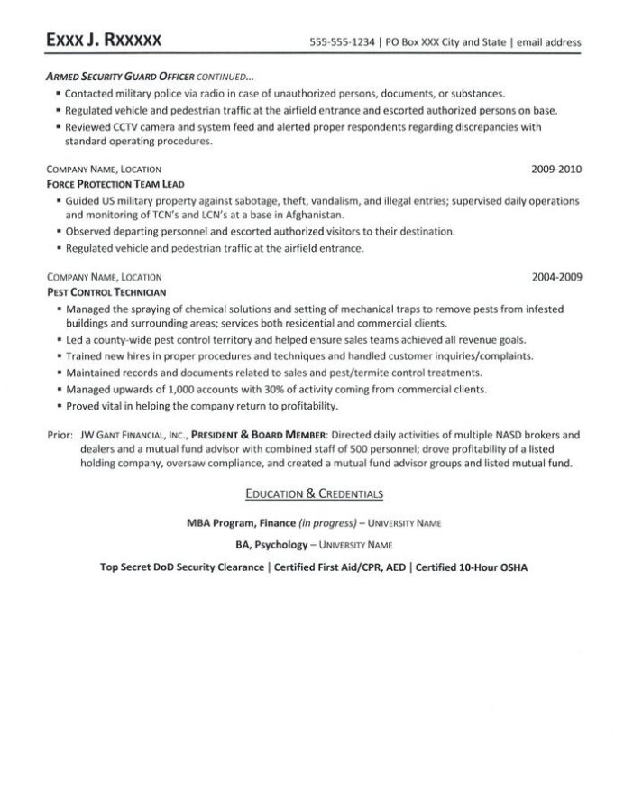 security resume clearance on examples sample computer science skills services tampa Resume Security Clearance On A Resume Examples