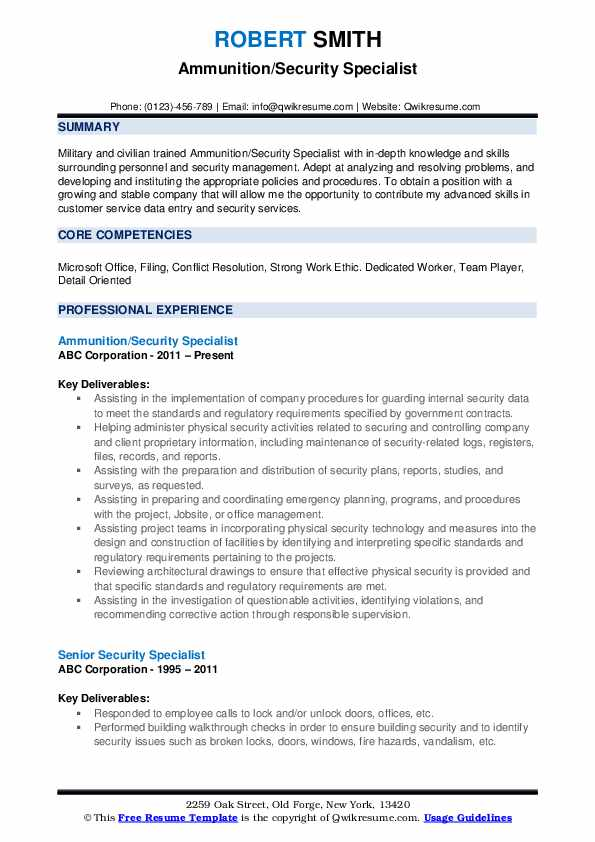 security specialist resume samples qwikresume dod pdf first job template allied health Resume Dod Security Specialist Resume