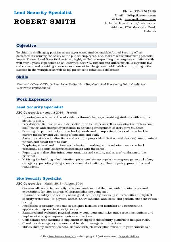 security specialist resume samples qwikresume dod pdf horse trainer design allied health Resume Dod Security Specialist Resume