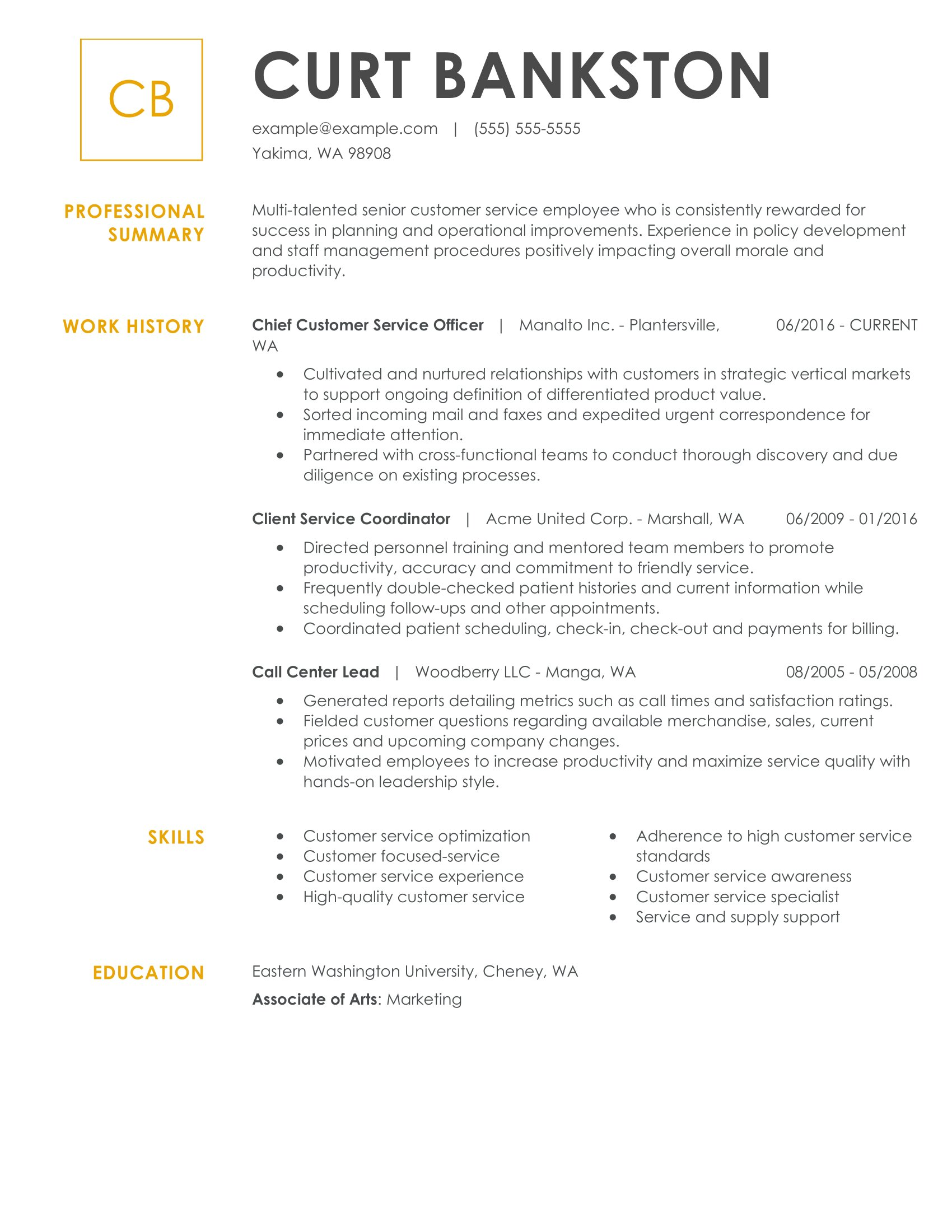 see our top customer service resume example attributes chief officer office administrator Resume Customer Service Attributes Resume