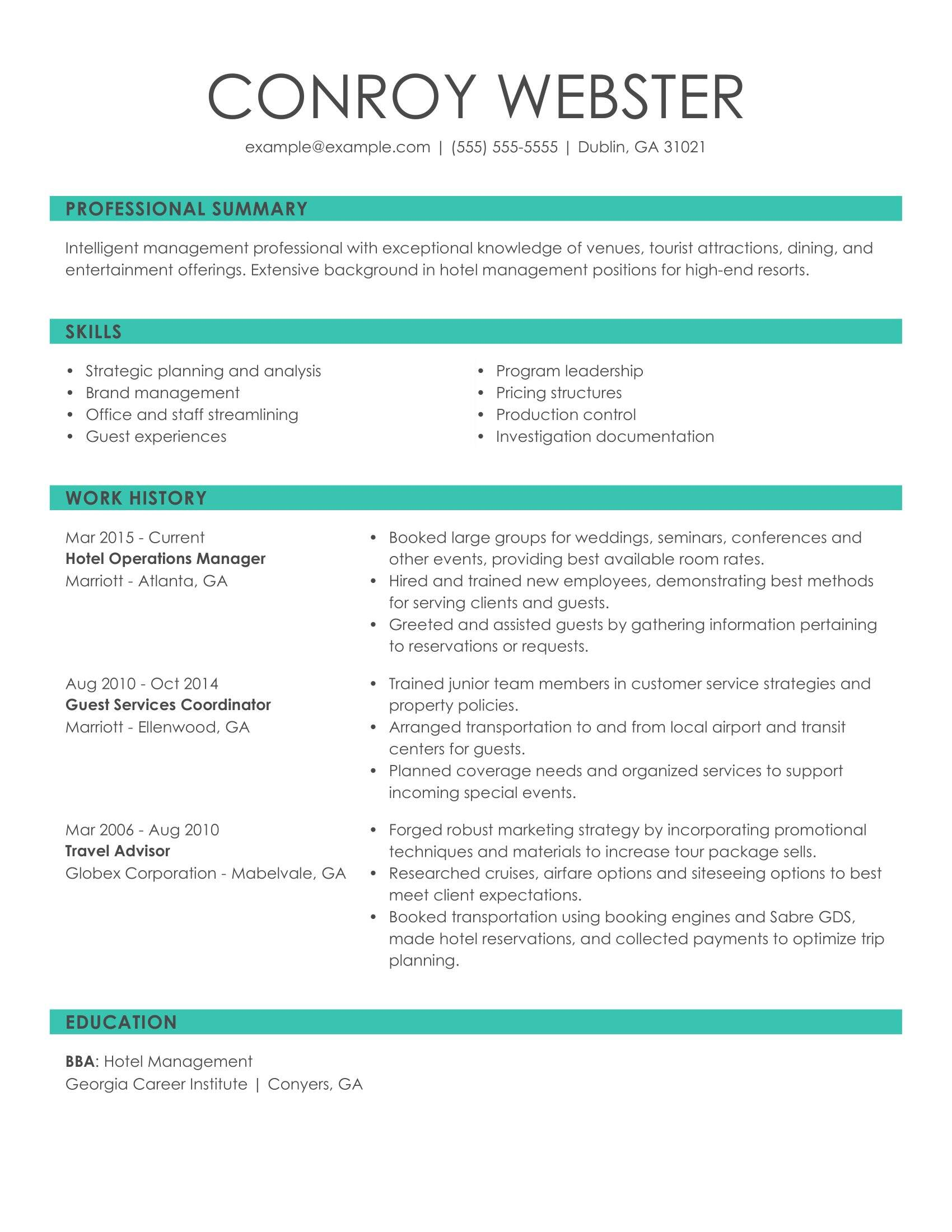 see our top customer service resume example good summary examples hotel ops manager icons Resume Good Resume Summary Examples