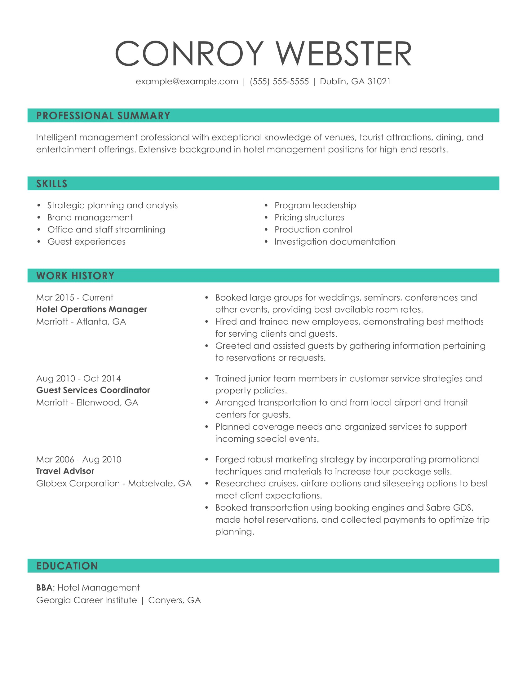 see our top customer service resume example overview hotel ops manager armed security Resume Customer Service Resume Overview