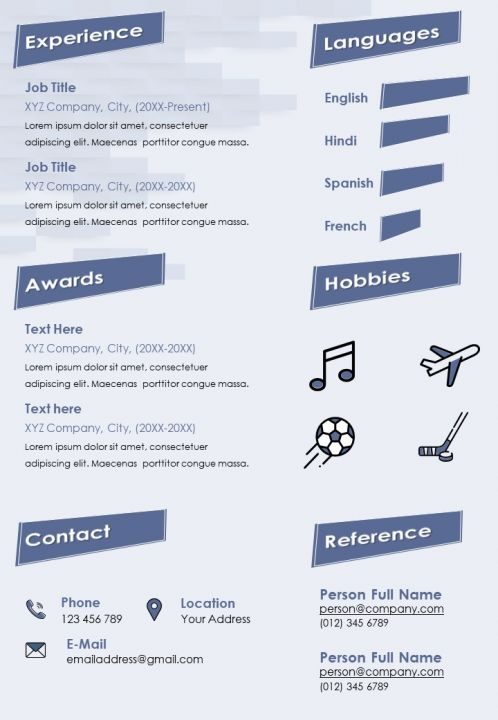 self introduction creative resume cv sample with personal info and skills presentation Resume Creative Skills For Resume