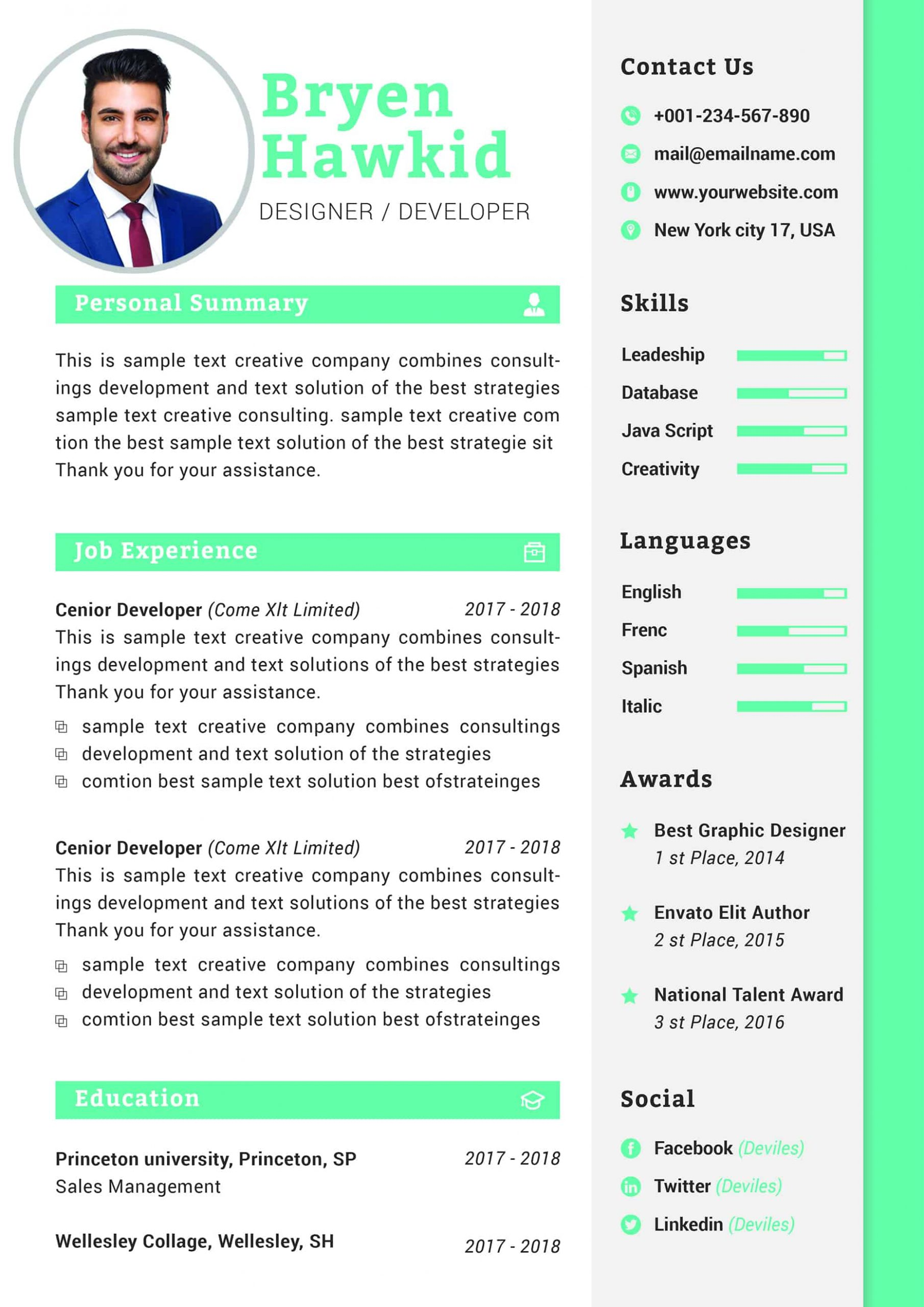 senior graphic designer cover letter format word resume sample cv resume2 scaled samples Resume Senior Graphic Designer Resume Sample