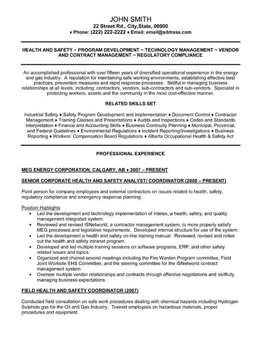 senior health and safety analyst resume template premium samples example job examples Resume Human Resources Analyst Resume