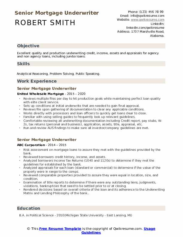 senior mortgage underwriter resume samples qwikresume cover letter pdf builder template Resume Mortgage Underwriter Resume Cover Letter