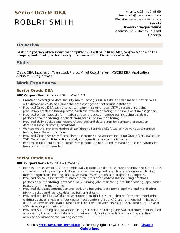 senior oracle resume samples qwikresume entry level pdf deloitte summary statement Resume Entry Level Oracle Dba Resume