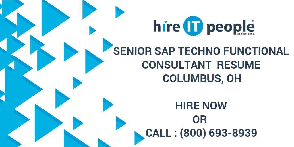 senior sap techno functional consultant resume oh hire it people we get done sample cna Resume Techno Functional Consultant Resume Sample