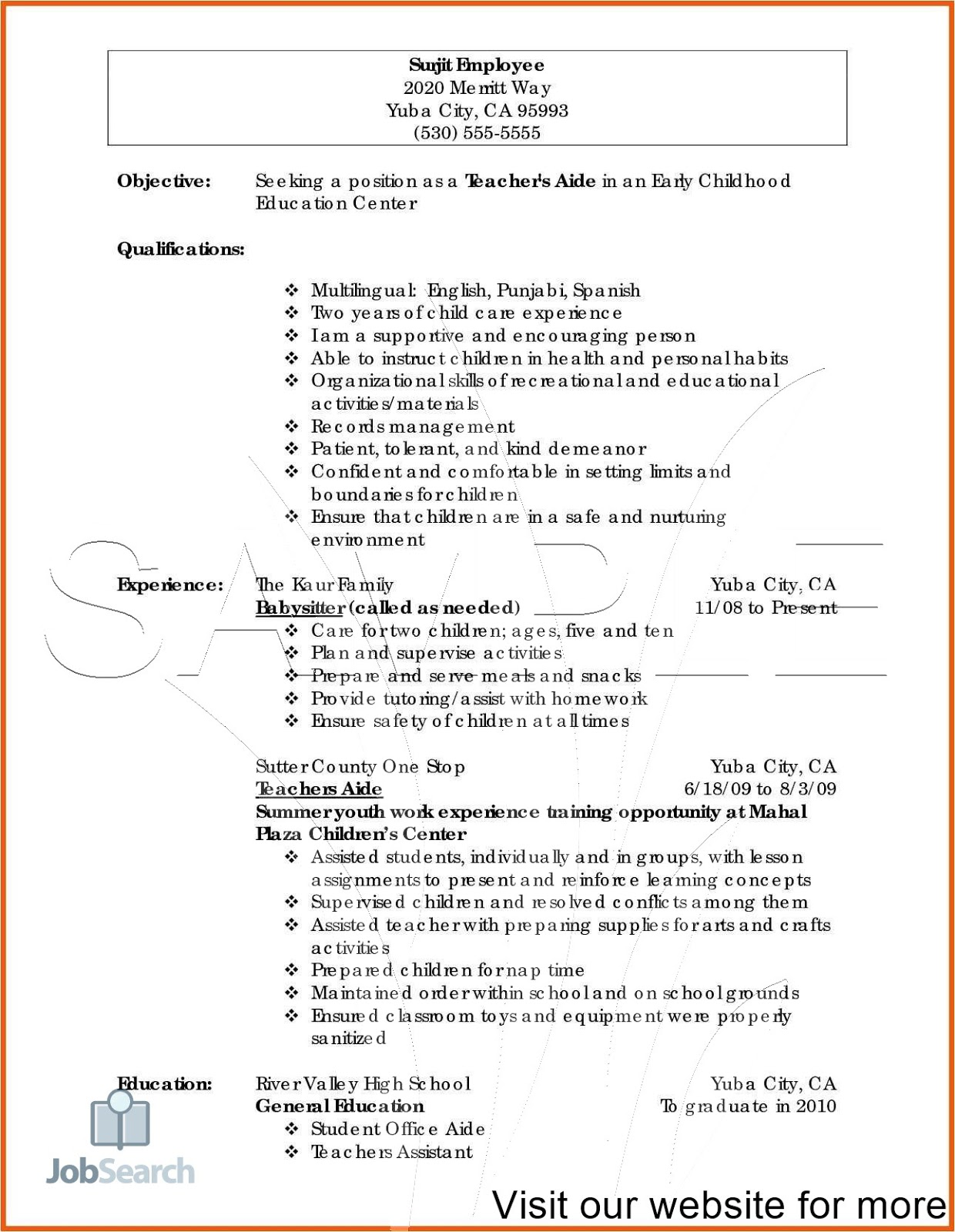 set up resume format site supervise synonym msw intern aarp examples hereby declare check Resume Supervise Synonym Resume