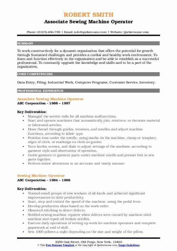 sewing machine operator resume samples qwikresume for pdf international trade specialist Resume Resume For Sewing Machine Operator