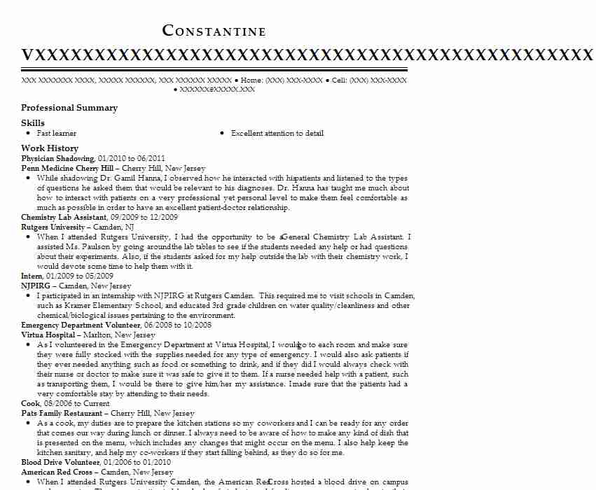 shadowing physician assistant resume example scripps coastal medical center san diego Resume Shadowing A Doctor Resume
