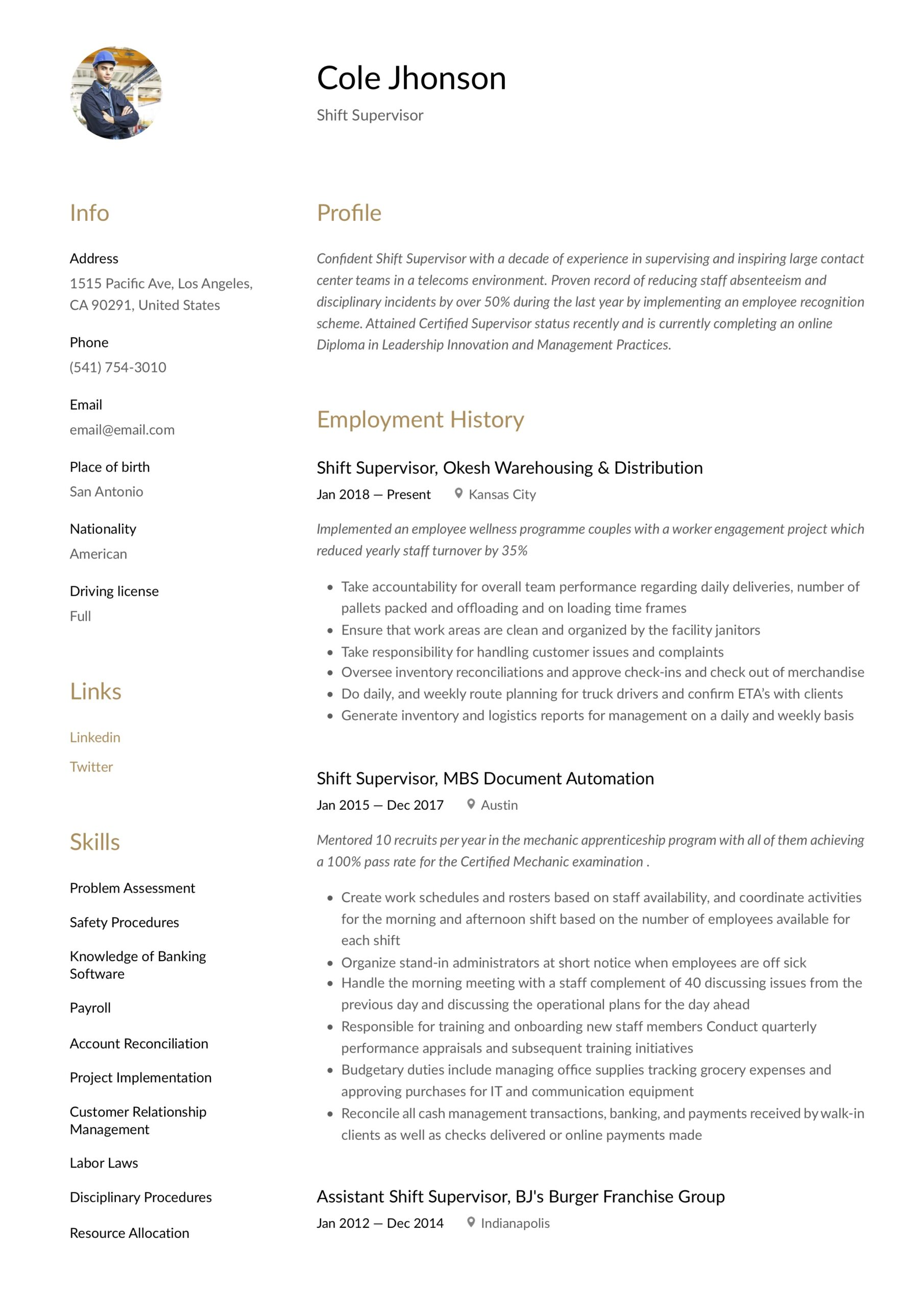 shift supervisor resume writing guide templates security safety manager for job fair Resume Security Shift Supervisor Resume