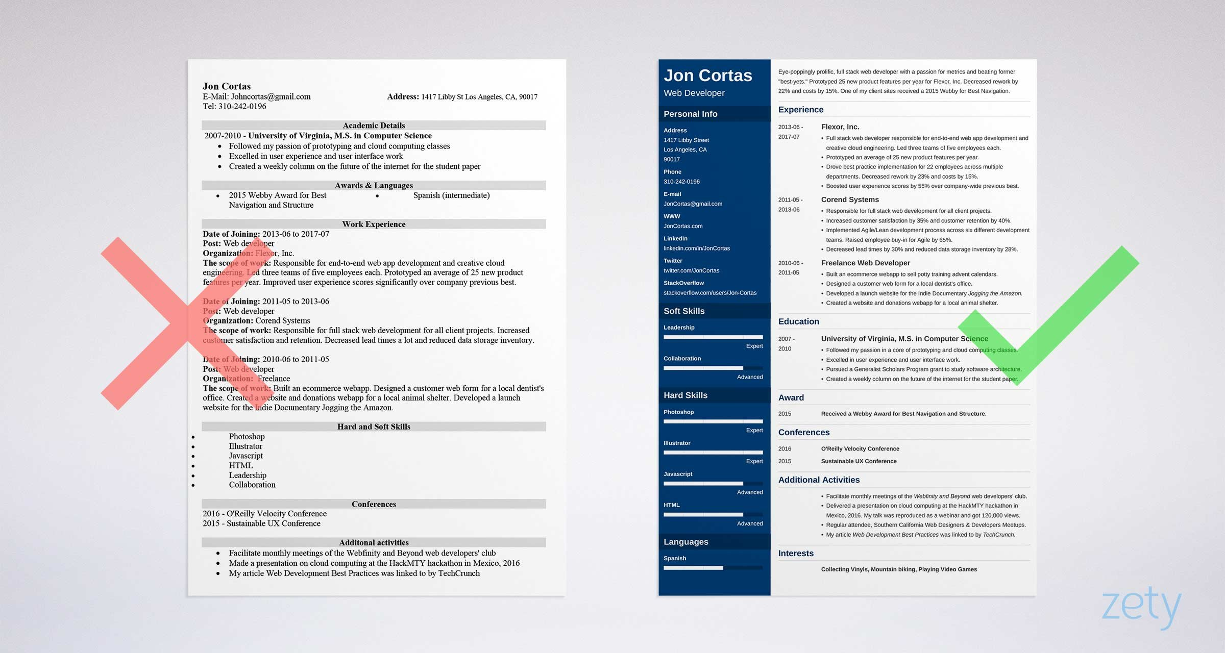 should resume one and to make it fit or two ideal length for web developer mwd field Resume One Page Or Two Page Resume