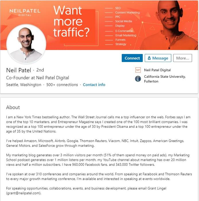 should write my linkedin summary in first or third resume pilots 1st 3rd neil patel Resume Resume 1st Or 3rd Person