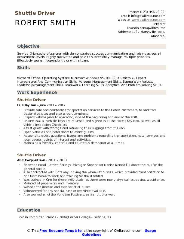 shuttle driver resume samples qwikresume objective sample pdf good summary statement for Resume Driver Resume Objective Sample