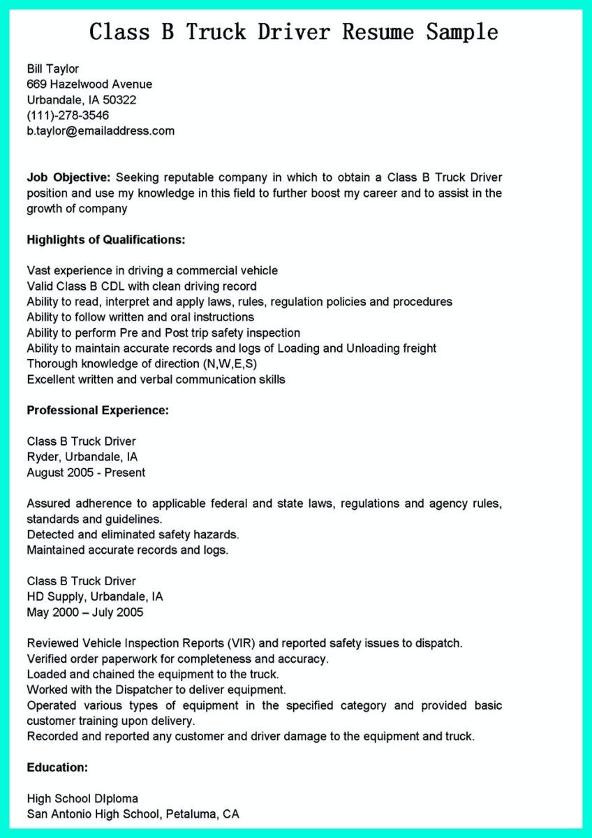 simple but serious mistake in making cdl driver resume examples job objective sample Resume Driver Resume Objective Sample