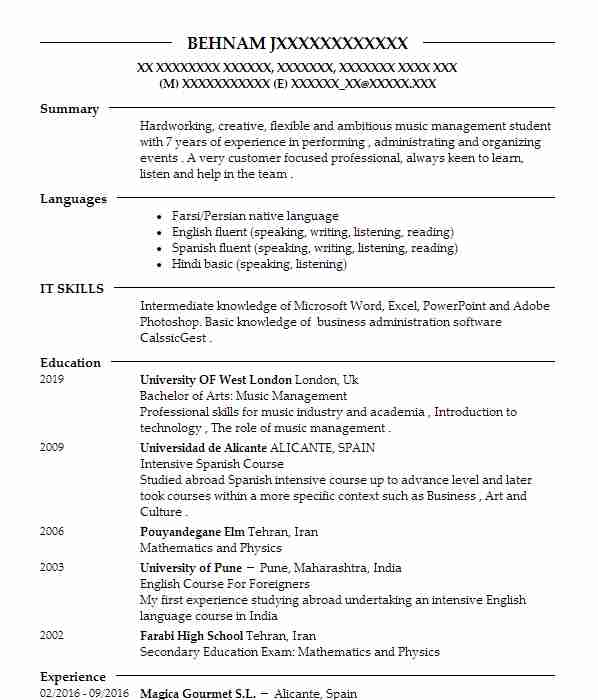 singers and musicians cv examples performing arts cvs livecareer music resume template Resume Music Resume Template Word