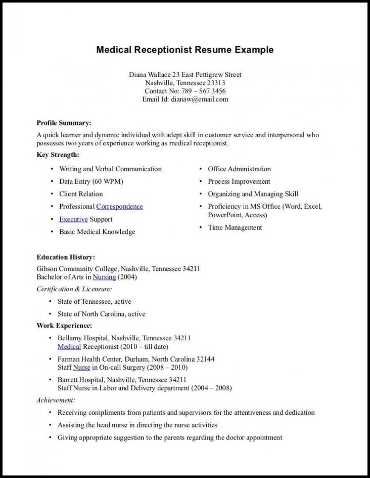 skills of medical assistant on resume free templates objective for example cover letters Resume Objective For Medical Assistant Resume Example