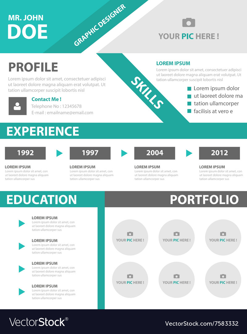 smart creative resume business profile cv vector image for ats compliant meaning email Resume Profile For Business Resume