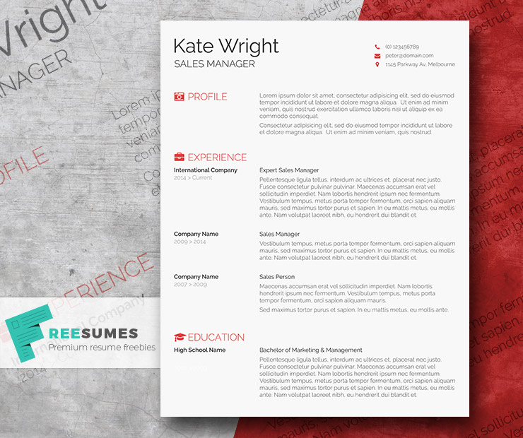 smart freebie word resume template the minimalist freesumes elegant design about yourself Resume Minimalist Resume Template