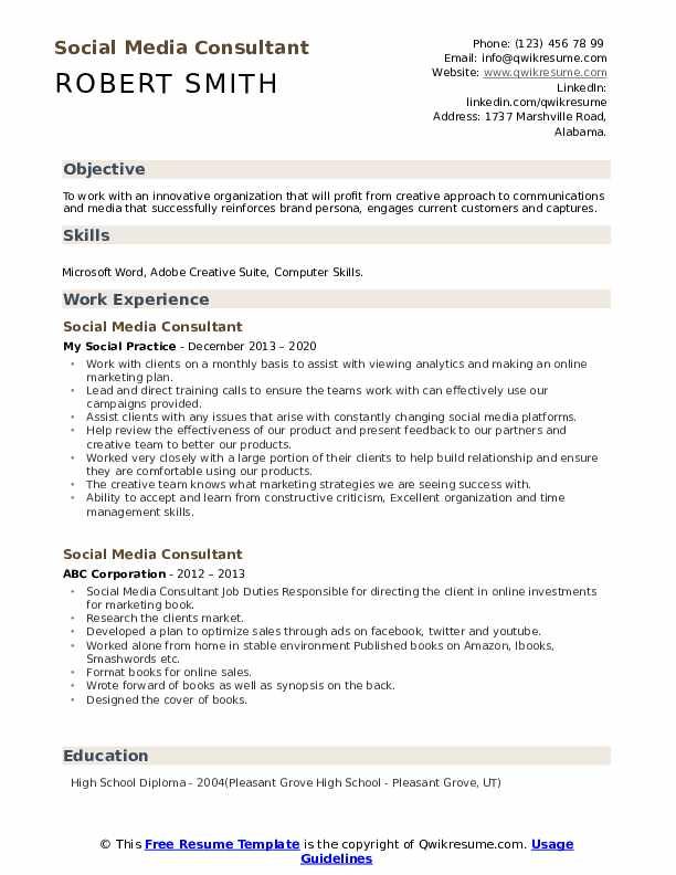 social media consultant resume samples qwikresume pdf questions about your float pool rn Resume Social Media Consultant Resume