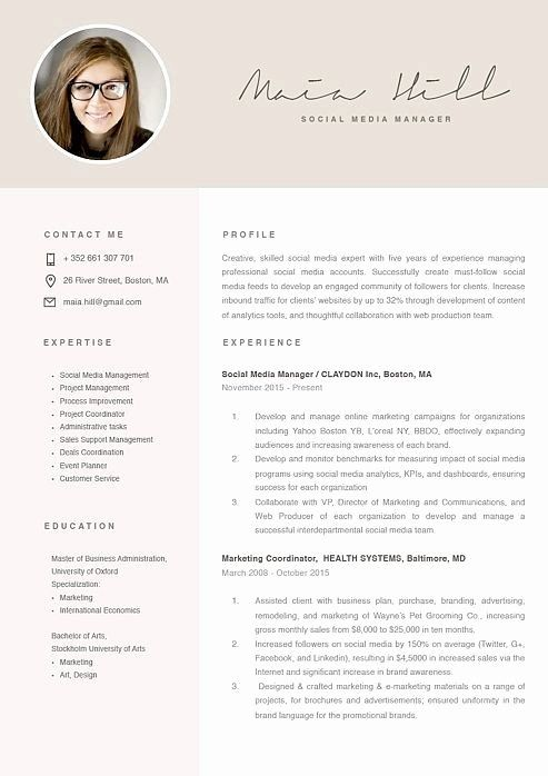 social media manager resumes new showcase resume design template in modern marketing Resume Community Manager Resume Template