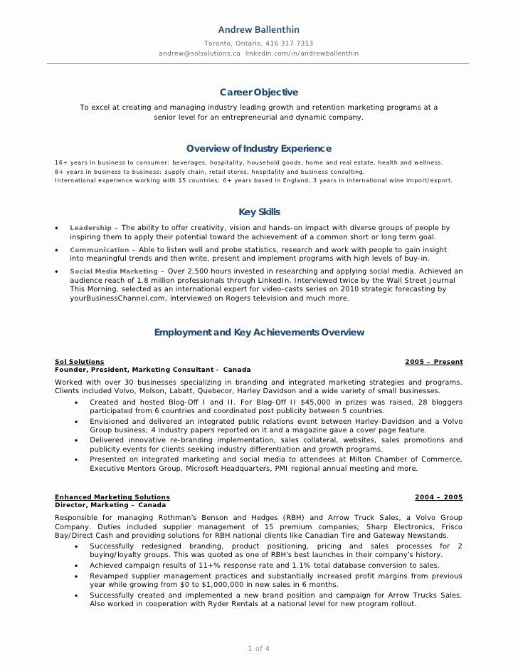 social media manager resumes unique ballenthin marketing resume in job examples sample Resume Objective For Media Resume