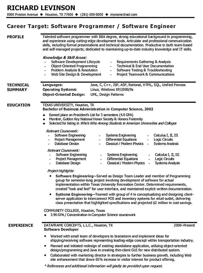 software engineer resume sample in examples basic objective builder word document Resume Software Engineer Resume Objective Sample