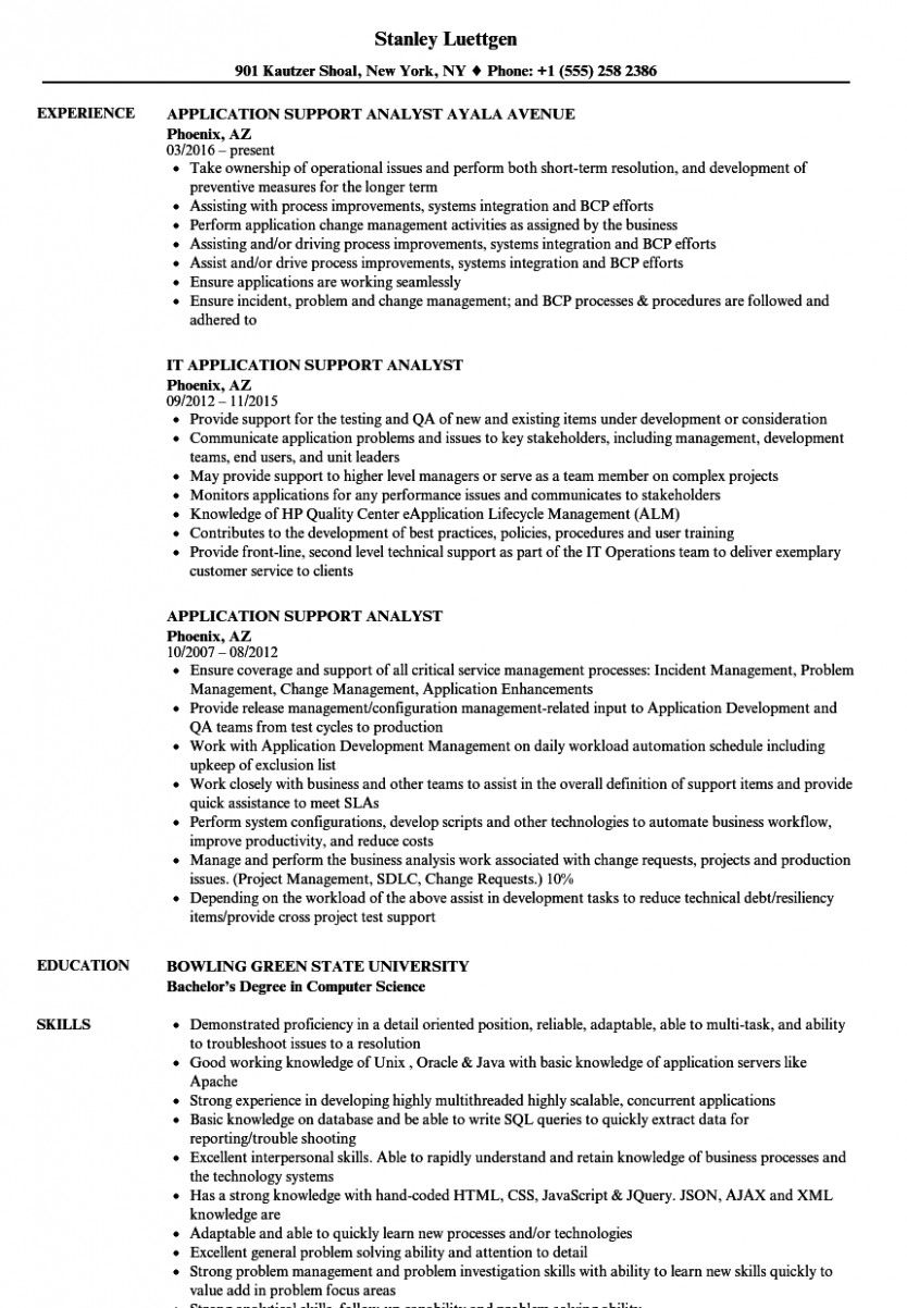 software help engineer resume in business analyst customer service job samples Resume Software Application Support Resume