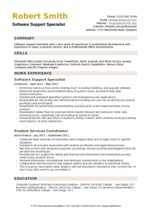 software support specialist resume samples qwikresume computer examples pdf script Resume Computer Support Specialist Resume Examples