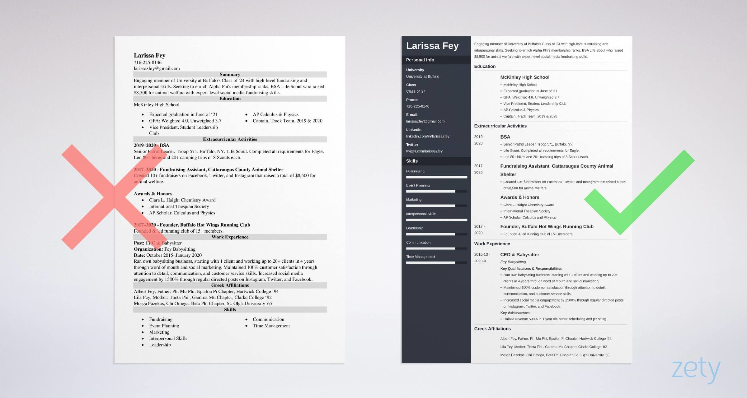 sorority resume template free examples and builder social example production worker Resume Sorority Social Resume Template