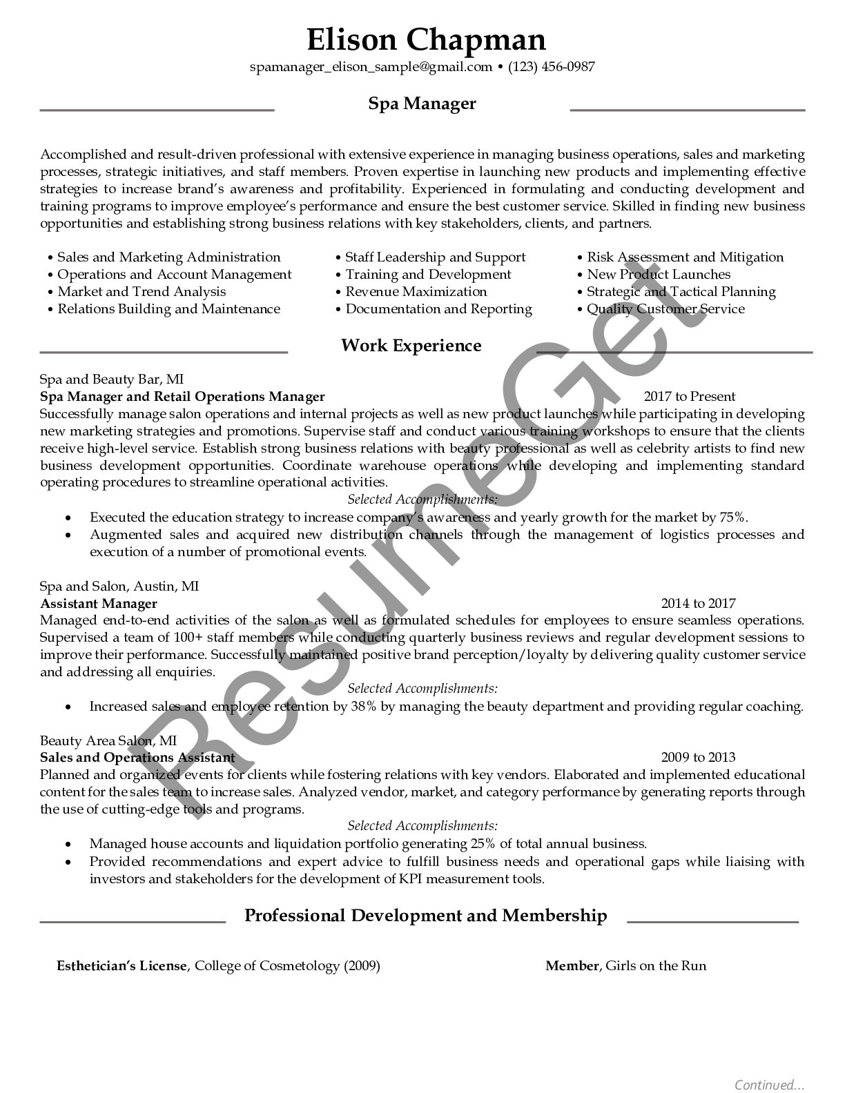 spa manager resume examples resumeget job description picking and packing sample free Resume Spa Manager Job Description Resume