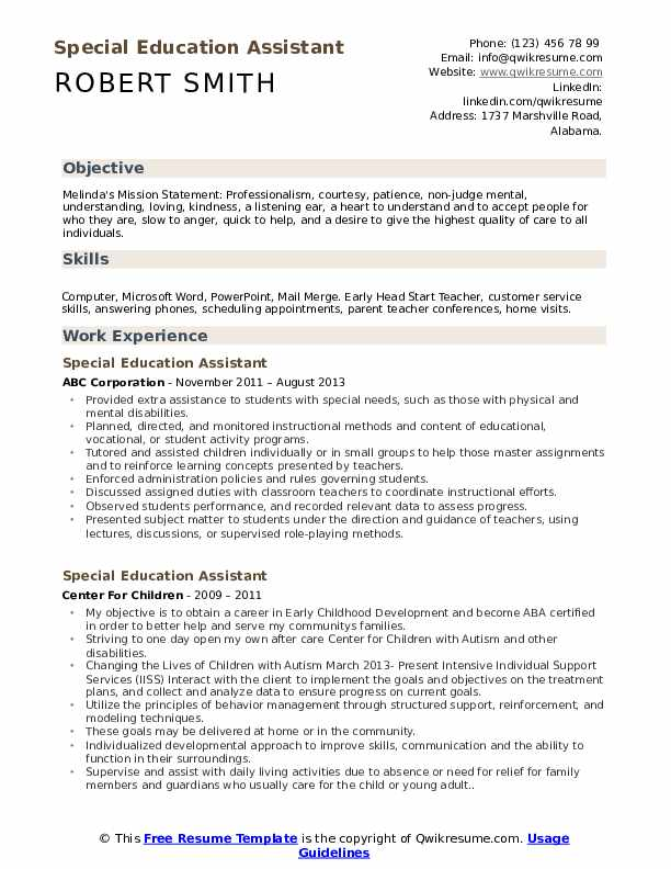 special education assistant resume samples qwikresume teacher template pdf embedded Resume Special Education Teacher Resume Template