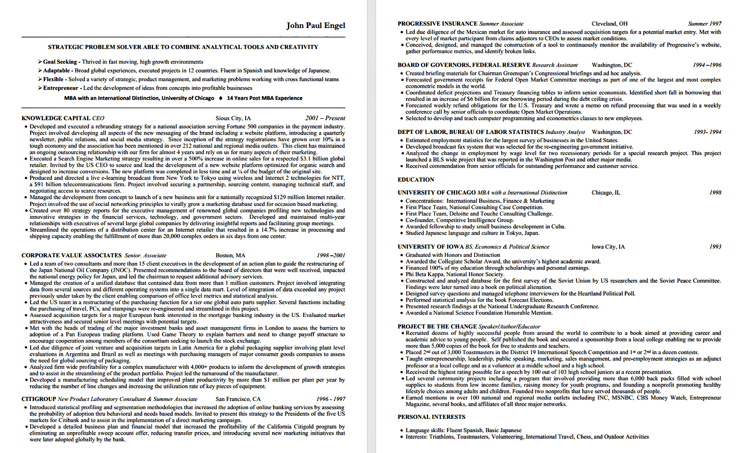 specific advice for standout resume ziprecruiter search john paul engel resume3 small Resume Ziprecruiter Resume Search