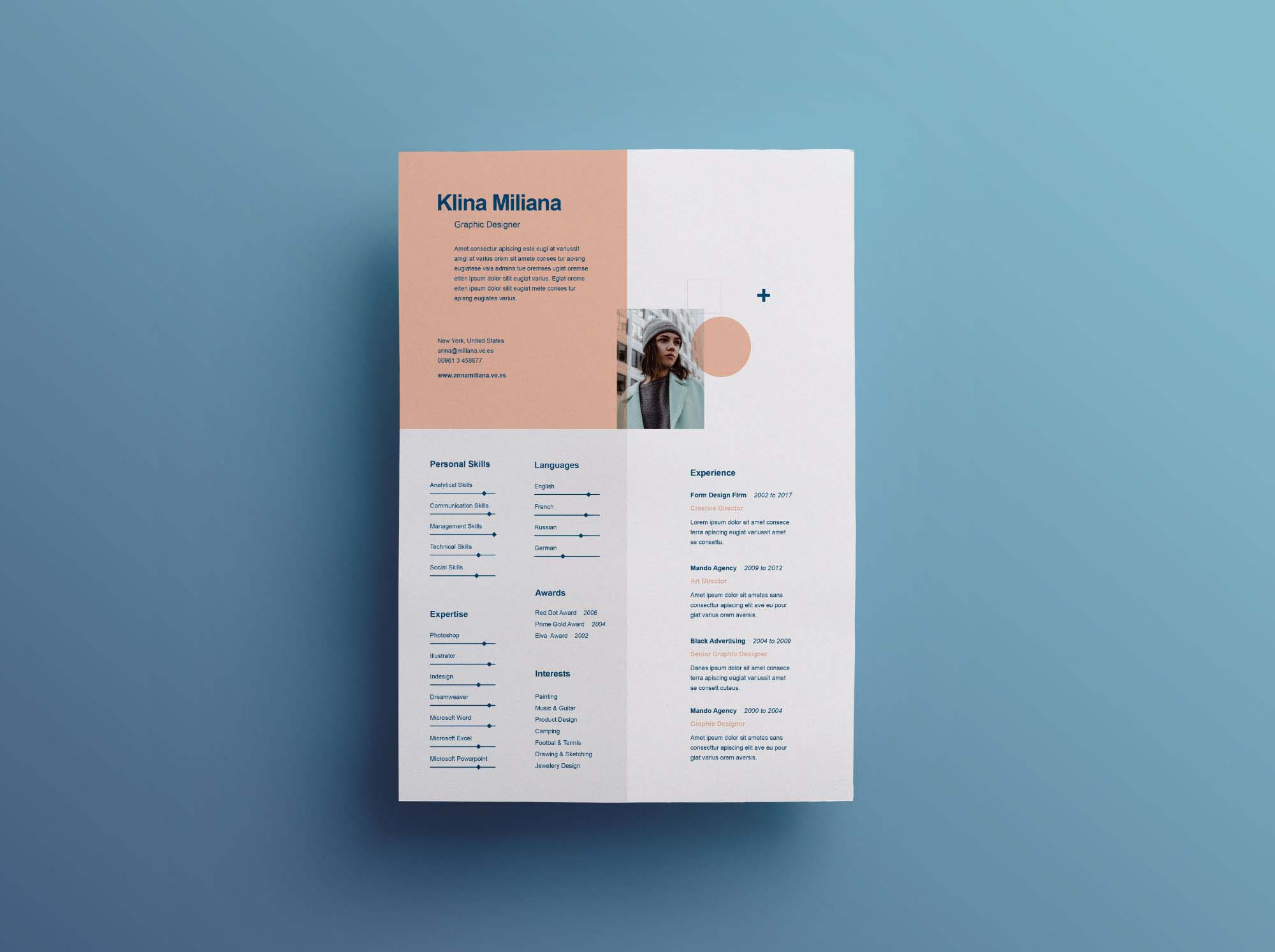 split free minimal resume template illustrator outline for professional different types Resume Free Resume Illustrator Template
