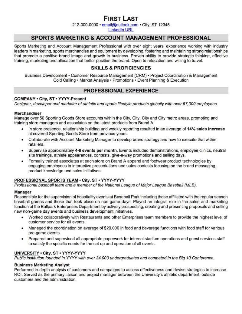 sports and coaching resume sample professional examples topresume recreation manager Resume Recreation Manager Resume