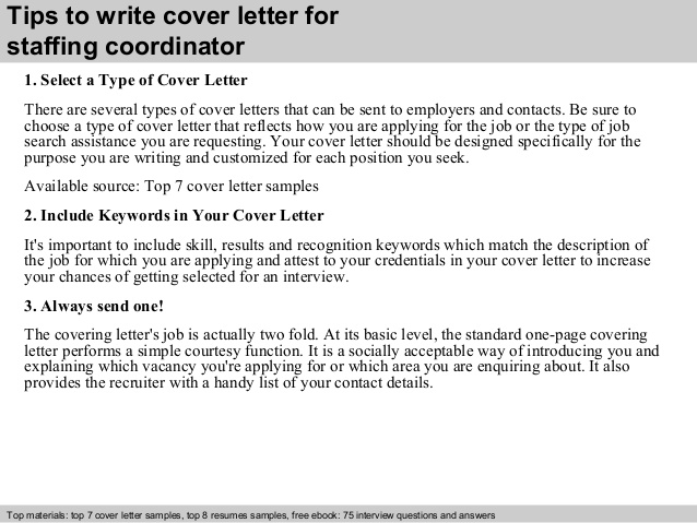 staffing coordinator cover letter resume programming skills template for construction Resume Staffing Coordinator Resume Cover Letter