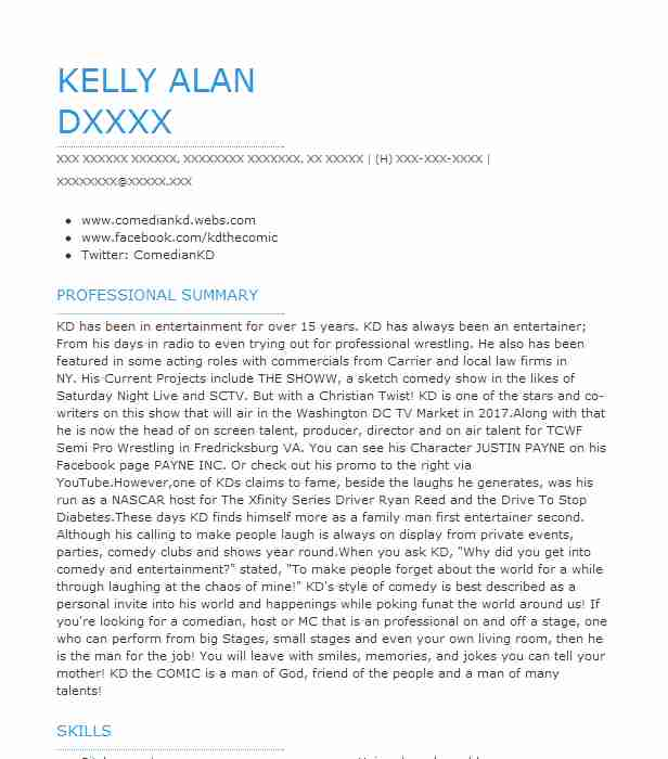 stand up comedian resume example carnival cruise lines fort preferred format training Resume Comedian Resume Example