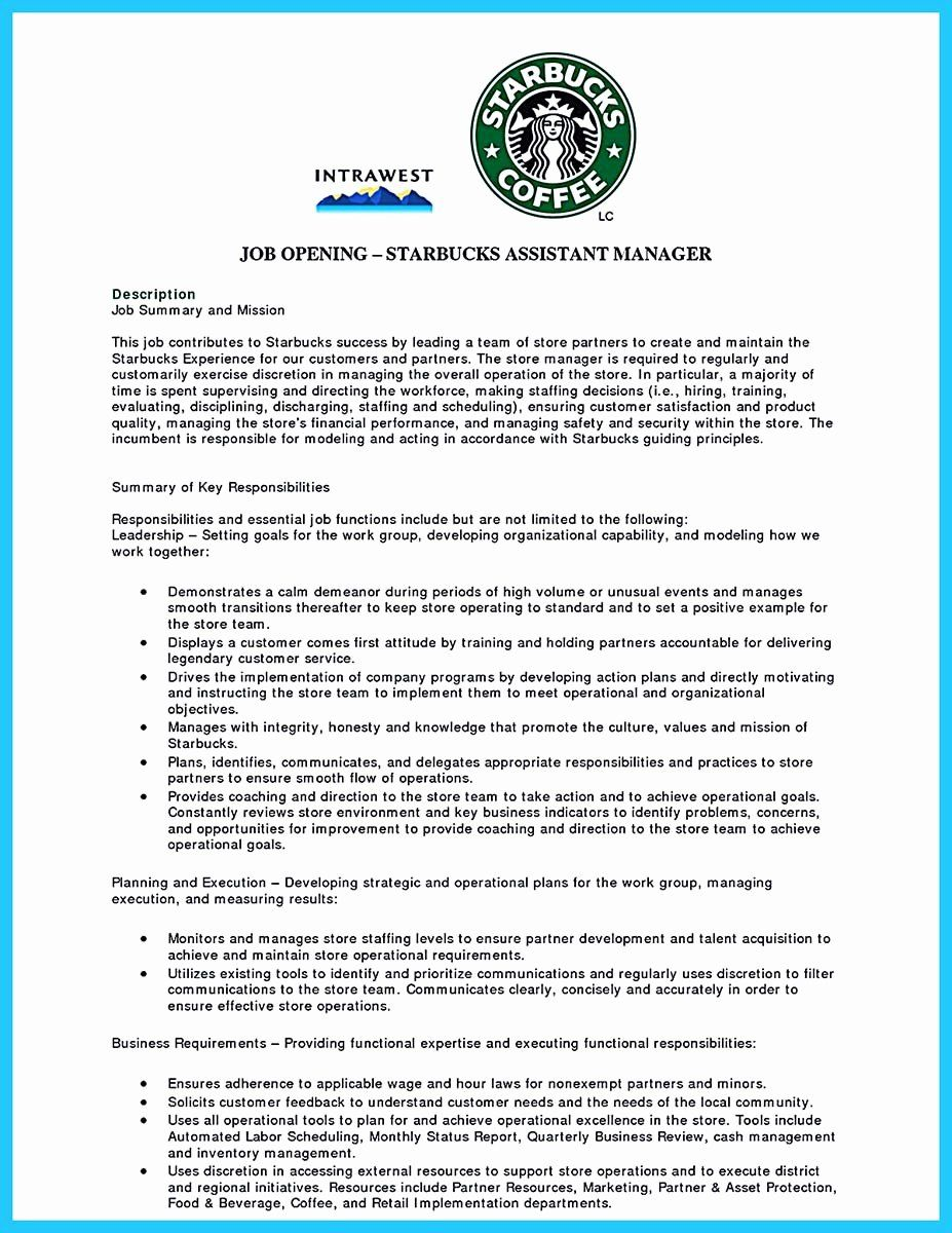 starbucks barista job description resume beautiful sophisticated sample that leads to in Resume Starbucks Barista Job Description For Resume